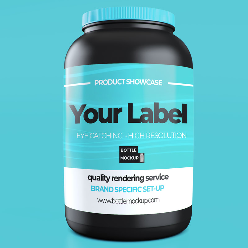 Protein Tub Mockup psd 016 example b