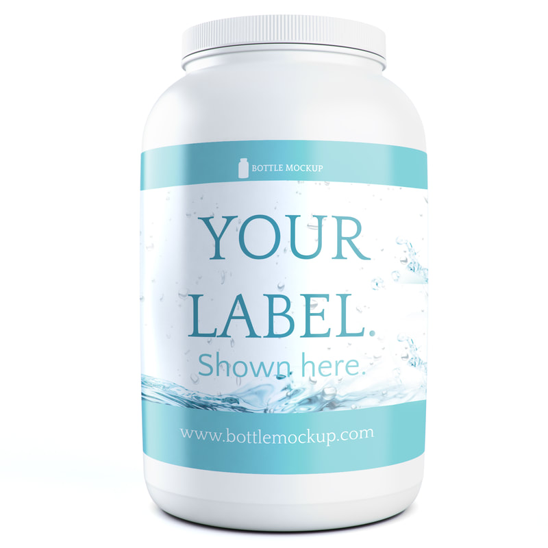 Protein Tub Mockup psd 016 example c